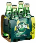 Минеральная вода Perrier газированная, со вкусом лимона, стекло