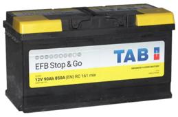Автомобильный аккумулятор TAB EFB Stop & Go SG90 (212090)