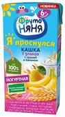 Каша ФрутоНяня йогуртная 5 злаков с грушей и бананом (с 6 месяцев) 200 мл
