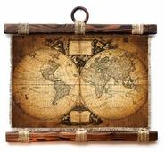 Панно Универсальный Свиток Старая карта