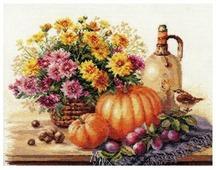 Алиса Набор для вышивания крестиком Натюрморт с тыквой 38 х 28 см (5-15)