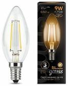 Лампа светодиодная gauss 103801109, E14, C35, 9Вт
