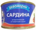 Аквамарин Сардина атлантическая в томатном соусе, 240 г