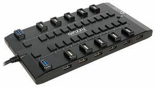 USB-концентратор Ginzzu GR-328UAB, разъемов: 28