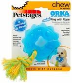 Кольцо для собак Petstages Orka mini с канатом (238REX)