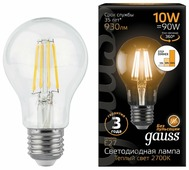 Лампа светодиодная gauss 102802110-S, E27, A60, 10Вт