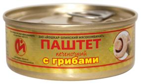 Паштет Йошкар-Олинский мясокомбинат Печеночный с грибами 100 г