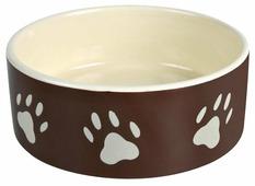 Миска TRIXIE 24532 с рисунком Лапка для собаки 0.8 л