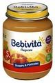 Пюре Bebivita персик (с 5 месяцев) 100 г, 1 шт