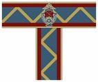Ковровая дорожка Люберецкие ковры с эмблемой Суворовского училища
