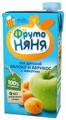 Сок ФрутоНяня из яблок и абрикосов с мякотью, с 3 лет