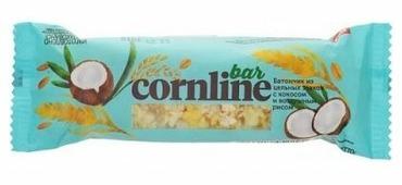 Злаковый батончик Cornline с кокосом и воздушным рисом, 30 г