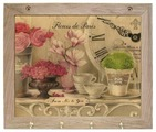 Вешалка Gift'n'Home для полотенец Парижские цветы 4 крючка