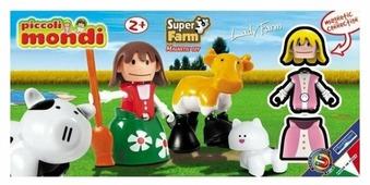Магнитный конструктор PlastWood Piccoli Mondi Super Farm 0526 Леди Ферма
