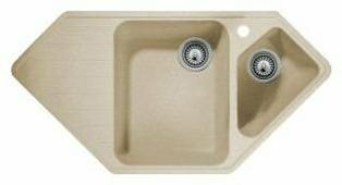 Врезная кухонная мойка Whinstone Андора 96.5х49.5см искусственный гранит