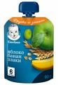 Пюре Gerber яблоко, банан, злаки (с 6 месяцев) 90 г, 1 шт.