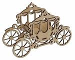"""Astra & Craft Деревянная заготовка для декорирования """"Декоративная карета малая"""" L-734"""
