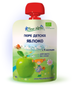 Пюре Fleur Alpine яблоко (с 4 месяцев) 90 г, 1 шт