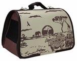 Переноска-сумка Dogman Лира Сафари №1 35х23х22 см