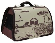 Переноска-сумка Dogman Лира Сафари 1 35х23х22 см