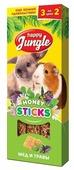 Лакомство для кроликов, грызунов Happy Jungle Honey sticks Мед и травы