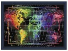 Алмазная живопись Набор алмазной вышивки Карта мира (АЖ-1747) 70х50 см