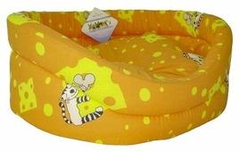 Лежак для кошек Бобровый Дворик с бортиком Кошки №2 49х38х16 см