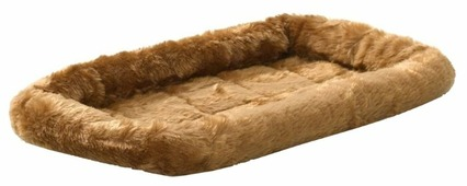 Лежак для кошек, для собак Midwest QuietTime Faux Fur Deluxe Bolster 56х38х8 см
