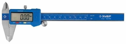 Цифровой штангенциркуль ЗУБР Эксперт 34465-150 150 мм, 0.01 мм