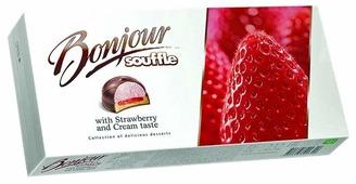 Пирожное Konti Bonjour Souffle вкус клубники со сливками