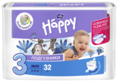 Bella Baby happy подгузники fun 3 (5-9 кг) 32 шт.