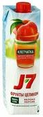 Сок J7 Фрукты целиком Яблоко-Персик, без сахара