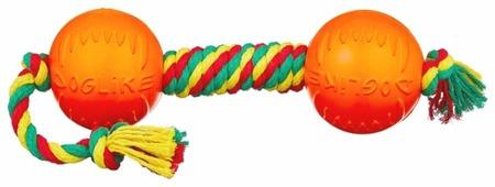 Гантель для собак Doglike Dental Knot канатная цветная большая (D-2368Ц)