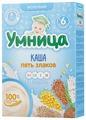Каша Умница молочная 5 злаков (с 6 месяцев) 200 г