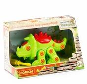 Винтовой конструктор Полесье Динозавры 76816 Трицератопс (в коробке)