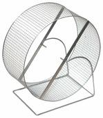 Игрушка для грызунов Дарэлл Колесо с подставкой, металл, сетка, 9 см