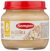 Пюре Semper индейка (с 6 месяцев) 90 г, 1 шт