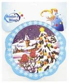 Наклейка интерьерная Winter Wings Снегири на елке, 29 см, N09089