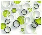 Фотообои Design Studio 3D Объемные зеленые круги