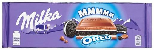 Шоколад Milka молочный с печеньем Oreo и молочной начинкой
