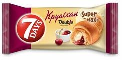 7DAYS Круассан Super max с кремом ваниль-вишня