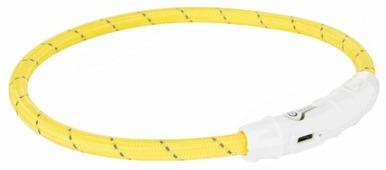 Ошейник для собак светящийся TRIXIE USB Flash M-L 7 мм 45 см зеленый (12701)
