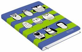 Ежедневник Канц-Эксмо Всюду совы. Дизайн 1 полудатированный, искусственная кожа, А6, 128 листов