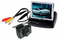 Камера заднего вида, монитор, соединительные провода Pleervox PLV-PC-03