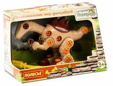 Винтовой конструктор Полесье Динозавры 76809 Велоцираптор (в коробке)