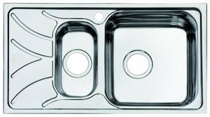Врезная кухонная мойка IDDIS Arro ARR78SZi77 78х44см нержавеющая сталь