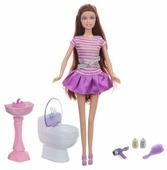 Кукла Defa Lucy Ванная комната 29 см 8200