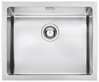 Врезная кухонная мойка smeg VQR50 56.7х46.6см нержавеющая сталь
