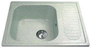Врезная кухонная мойка Ulgran U-202 64.5х49см искусственный мрамор