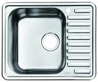 Врезная кухонная мойка IDDIS Strit STR58PLi77 58.5х48.5см нержавеющая сталь